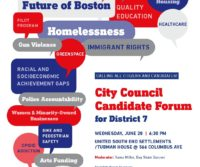 JUNE 28th, 6:30 PM: City Council Candidate Forum for District 7