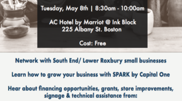 Business & Financing Workshop for Small Businesses: May 8th